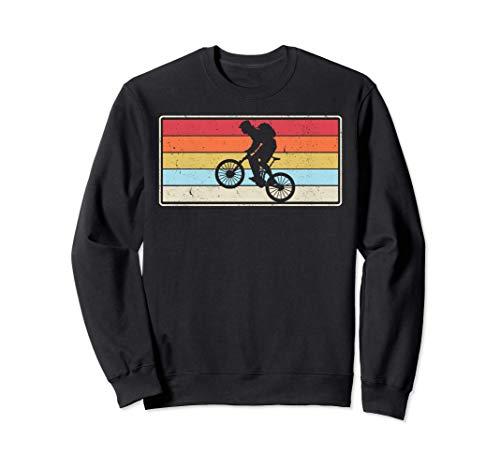 Vintage Mountain Bike Rider Off Road Bike Riding MTB Sweatshirt