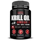 Krill Oil Supplement 1000 MG - Antarctic Krill Oil Omega 3 - Krill Oil Capsules with EPA/DHA - Omega 3 Fish Oil - Joint Support, Brain Supplement, Ultimate Omega - Joint Supplements for Women & Men