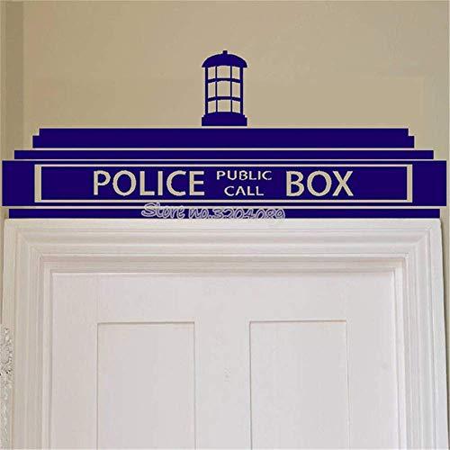 Doctor Who Tardis Wandaufkleber Public Call Police Box Transfer Zeichen Vinyl Wandtattoos Für Kinder Schlafzimmer Wohnzimmer Decor 84 * 33 Cm