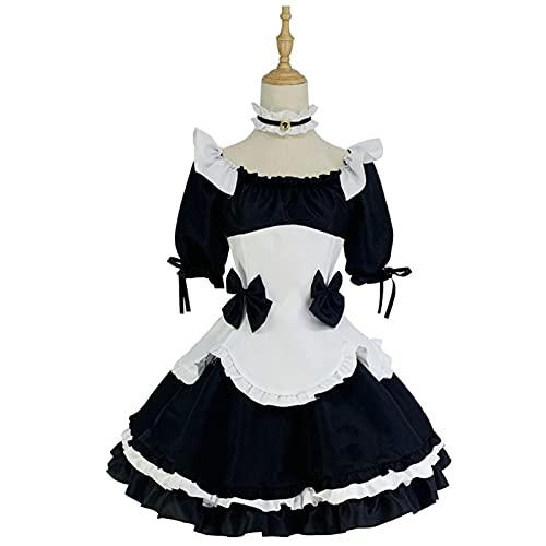 RSDZ NEW Maid Cosplay Kobieta Big Brother Dress Sukienka czarno-biała pokojówka The Best for You (Color : Black, Size : XL)