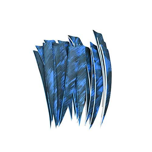 AMEYXGS 30 unids Flecha Plumas de Pavo 5 Pulgadas Pluma Natural Flecha de Caza Plumas de Pavo ala Derecha para Caza al Aire Libre Flechas de Tiro