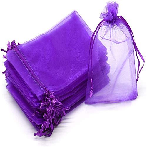 Generice Bolsa de regalo de gasa de malla ordinaria para caramelos, bolsa de gasa de organza, bolsa de regalo de fiesta X100 piezas