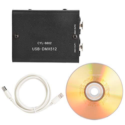 DMX-Controller, Beleuchtungs-Controller, DMX512-LED-Licht DMX-Stage-Lighting-Controller Stage-Light-Controller Light DMX-Controller USB-zu-DMX-Badezimmer für Schlafzimmer