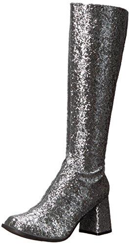 Ellie Shoes Women's Gogo-g Boot, Silver, 9 US/9 M US