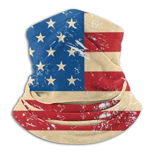 Garlincao USA - Bufanda para cuello con bandera vintage