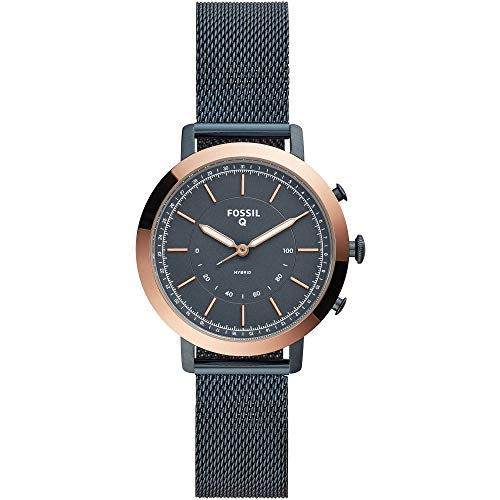 Fossil Damen Analog Quarz Smart Watch Armbanduhr mit Edelstahl Armband FTW5031