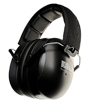 FSL Decimate Earmuffs 34dB NRR Protection - Professional Ear Defenders for Shooting - 3 Year Warranty (Black)