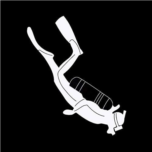 3 Piezas Etiqueta engomada del Coche 13 cm * 15,8 cm Deportes de Buceo Divertidas Pegatinas de Coche Blanco
