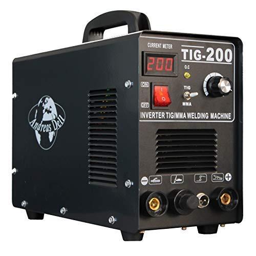 Schweißgerät Inverter TIG/WIG + MMA 200 HF-Zündung + Schweißmaske + Zubehör