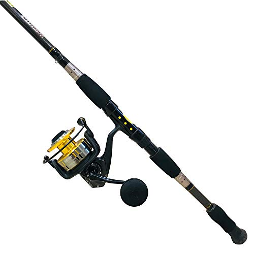EatMyTackle Blackfin Tuna Saltwater Spinning Rod and Reel Combo (7ft. Med/Fast)