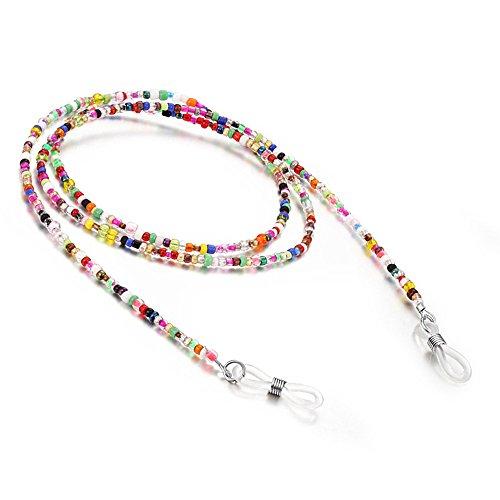Glasses Chain, Glasses Necklace Chain, Decorative Eyeglasses Chain, Vococal-Eyewear Retainer Multicolour Beaded Spectacles Sunglass Holder Glasses Cords Strap Sunglass Rope for Women Men Childern