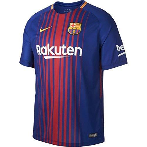 Nike Maillot Home Barcelone 17/18 Bleu XL