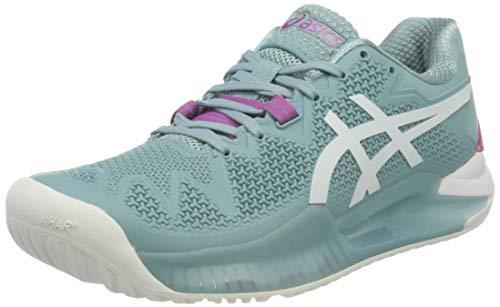 Asics Gel-Resolution 8, Tennis Shoe Mujer, Smoke Blue/White,...