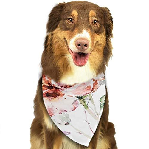 Bandana para Perro Flor botánica, Pañuelos para Perro, Reversibles, Ajustables, Triangulares, Bufandas para Mascotas y Gatos, Regalos Cumpleanos