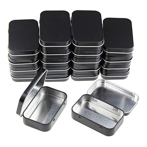 Goodma - Juego de 20 recipientes rectangulares de Metal con bisagras para Almacenamiento en el hogar (95 x 62 x 20 mm)