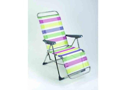 Alco - Tumbona Posiciones Relax Aluminio Fibreline Rayas Colores 26 1-48026