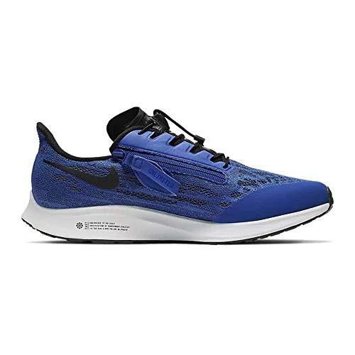 Nike FlyEase Air Zoom Pegasus 36 Racer Blue/Black/Blue Hero/White 10.5 4E - Extra Wide