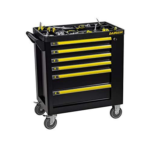 Daimann One werkplaatswagen garage met 158 gereedschapskoffer met wielen en 6 professionele gereedschapskisten