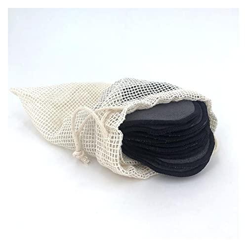 piezas algodón celuloso toallitas limpiador toalla 12pc reutilizable algodón almohadillas maquillaje removedor de maquillaje lavable redondo bambú maquillaje almohadillas tela almohadillas de enfermer