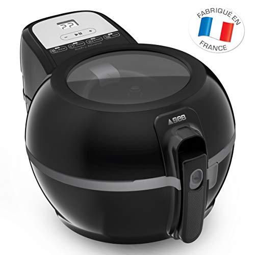 Seb Active Advance FZ727800 - Freidora sin aceite eléctrico, color negro con regulación inteligente de la temperatura, freír sana, pala de brasaje, aplicación de recetas sin olor, fácil de usar