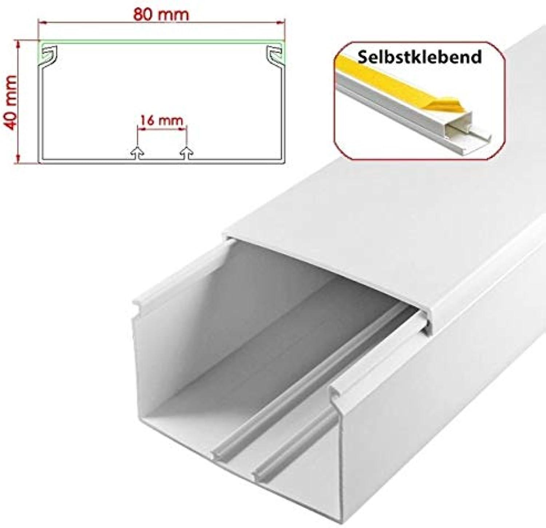 StilBest® 100m Kabelkanal [L x B x H 200x8,0x4,0 cm, PVC, Selbstklebend, weiß] Kabeldurchführungssystem   Kabelleiste   Kabelschlauch   Kabelrohr B07PNC4G2L   Verschiedene aktuelle Designs