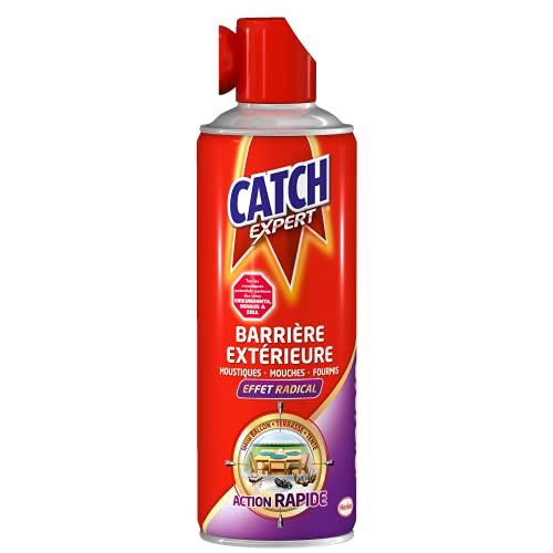 Catch Expert – Aérosol Barrière Extérieure Moustiques & Mouches & Fourmis –400 mL