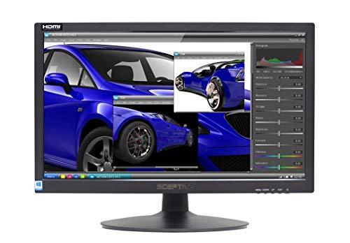 """Sceptre 20"""" 1600x900 75Hz LED HD Monitor HDMI VGA Build-in Speakers, Metal Black 2019 (E205W-16008A)"""