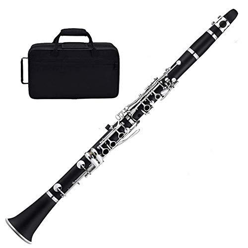 N / A Premium B Flat 17-Key Clarinet Ebony, Cuerpo de...