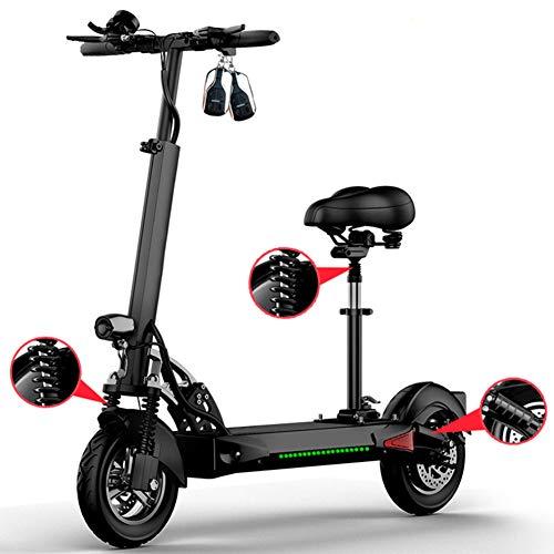 LHLCG Faltbarer elektrischer Scooter-10 Zoll E-Scooter-Aluminiumlegierung-ultraleichter beweglicher Zweiradroller,Black,48V~8Ah