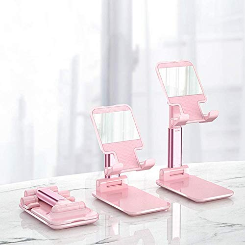 Apikapook Universal Mobile Phone Stand, Foldable Tablet Stand, Adjustable Angle and Height Mobile Phone Holder (Pink)