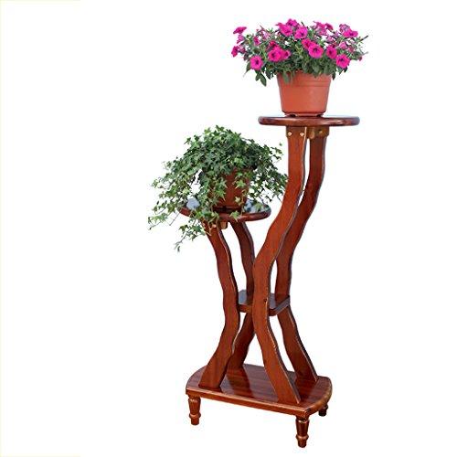 MLHJ Stand de Fleurs- Supports de Fleur d'intérieur de Salon de Balcon de Multi-Plancher en Bois Solide (Taille : 95 * 50 * 27cm)