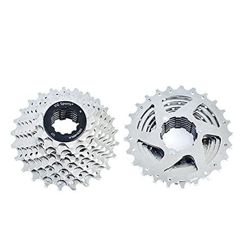 Prominy Rueda Libre para Bicicleta de 8 9 10 velocidades, Todos los tamaños, Cassette para Bicicleta de Carretera, Bicicleta de Rueda Libre, piñón
