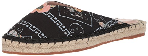 Avec Les Filles Women's Val Mule, Black Poppy Bandana Printed Canvas, 5.5 M US