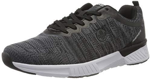 Rieker Herren Frühjahr/Sommer B9800 Sneaker, Grau (Grau/Schwarz 42), 43 EU