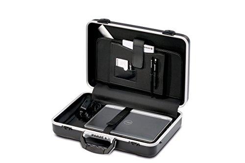 Parat Arbeitstasche PARADOC Attache Koffer (gepolsterter Bodenschale, Dokumentenfach; Klemmfach; Material: ABS-Kunststoff; schwarz (leer - ohne Inhalt))
