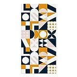 DON LETRA Alfombra Vinílica para Salón, Dormitorio y Cocina - Diseño de Geometría - 80 x 40 x 0.2 cm, ALV-002