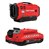 CRAFTSMAN V20 Inflator with Lithium Ion Battery, 2.0-Amp Hour, Charger Sold Separately (CMCE520B & CMCB202)