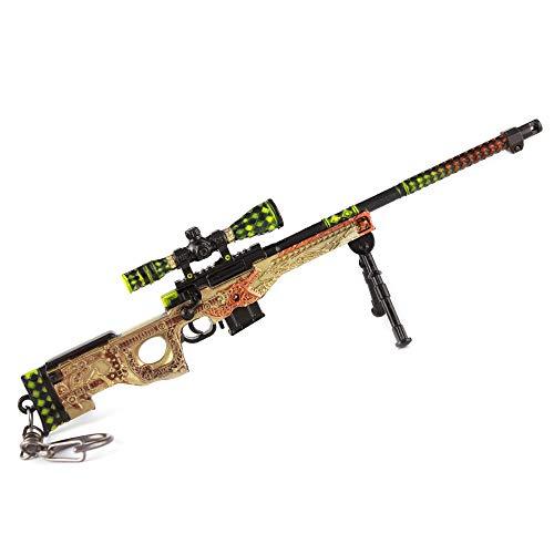 DJIEYU 1:5 Escala Militar Militar Miniatura AWP Rifle de Francotirador Pistolas de Metal Modelo Pistola Figura Accesorios Juguete Llavero Die Cast Decoración Juguetes