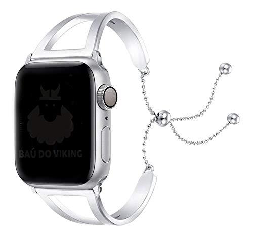 Pulseira Aço Inoxidável Pendant, compatível com Apple Watch (Prata, 38mm)