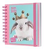 Grupo Erik Diario Scuola 2021 2022 Studio Pets Rabbits, agenda scolastica 2021 2022 giornaliera con 11 mesi, 16x14 cm, ideale come Grupo Erik Diario elementari, Grupo Erik Diario scuola media