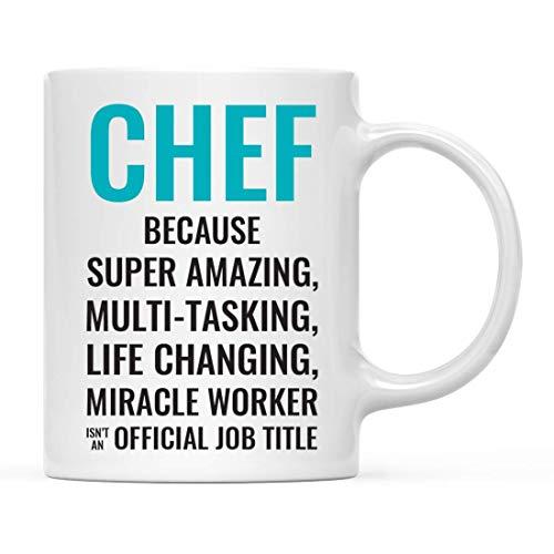 Taza de café para regalo para hombres o mujeres, chef porque el súper asombroso trabajador milagroso que cambia la vida no es un título de trabajo oficial, paquete de 1, taza para beber, cumpleaños, N