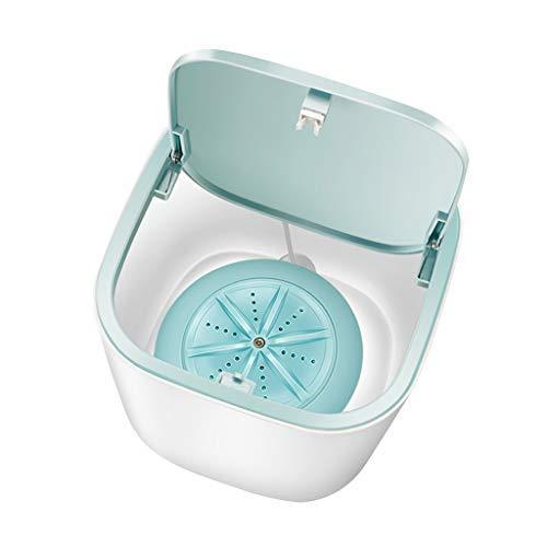 Mini Faltwaschmaschine mit Faltwanne, geräuscharm aktualisierte Mini Turbo Waschmaschine Tragbare Reinigungsmaschine, Automatische Klappwaschmaschine Blau für Unterwäsche DEZHU Momoxi MOIX