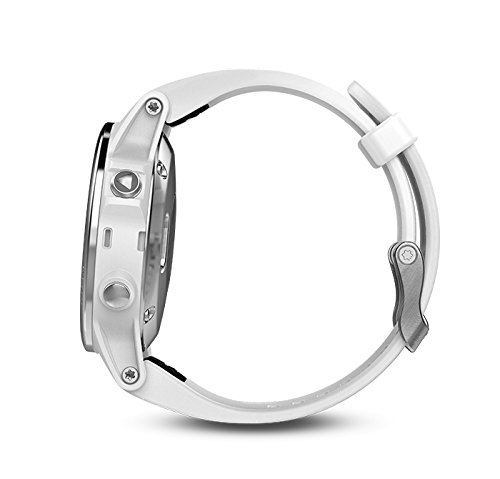 Garmin Fenix 5S (White with Carrara White Band) Power Bundle | Includes HD Glass Screen Protector, PlayBetter Hard Case & PlayBetter Portable Lipstick Charger | Multi-Sport GPS Watch