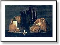 アーノルド・ベックリン *死の島, 1880 【ポスター+フレーム】約 81 x 61 cm ブラック