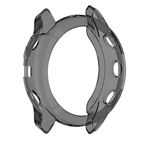 gazechimp Para Garmin Fenix 6X Smart Watch Compatível Soft Case Capa Protetor De Tela - Preto