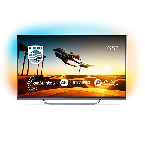 Philips Ambilight 65PUS7502/12 Fernseher 164 cm (65 Zoll) Smart-TV (4K, LED-TV, HDR Premium, Android TV, Micro Dimming Pro, DTS Premium Sound) Schwarz