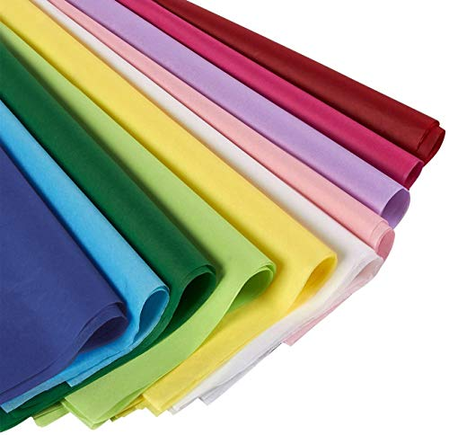 120 Sheets - Tissue Paper Gift Wrap in Bulk - Assorted Colors - Perfect for Gift Bags, DIY Crafts, Holidays, Christmas, Birthdays, 19.7 x 26 In.