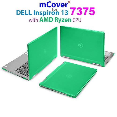 mCover - Carcasa rígida para Dell Inspiron 13 7375 de 13,3' (con AMD Ryzen CPU) 2 en 1 para ordenadores portátiles convertibles, Verde