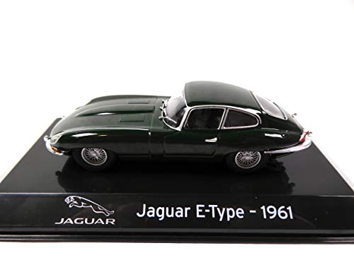 OPO 10 - Coche 1/43 Colección Supercars Compatible con Jaguar E-Type 1961 (S74)