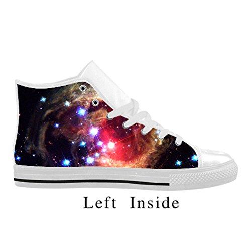 Cheese Pretty modèle galaxie Chaussures Sneaker Femme, Blanc, 38 EU